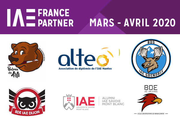 IAE FRANCE PARTNER Mars-Avril 2020