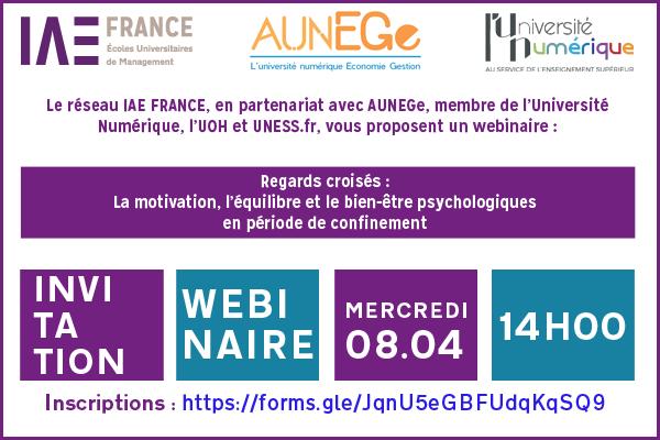 Webinaire IAE FRANCE AUNEGe