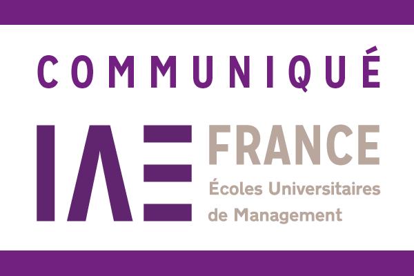 COMMUNIQUE IAE FRANCE