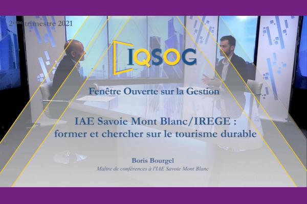 IQSOG - Boris Bourgel IAE Savoie Mont Blanc